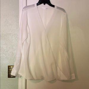 Wrap front blouse SZ xxl. Port Authority